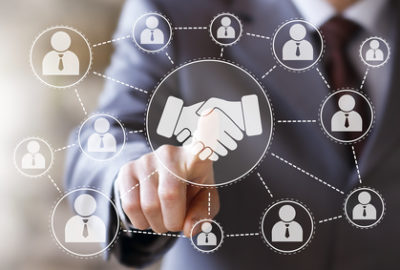 Business handshake online network